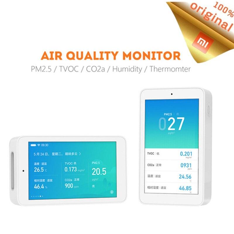 Détecteur d'air d'origine Xiaomi Mijia capteur de haute précision 3.97 'écran tactile Interface USB capteur d'humidité PM2.5 CO2a-in Télécommande connectée from Electronique    1