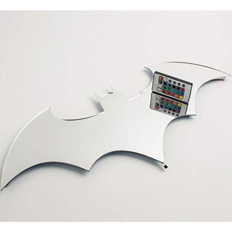 HZFCEW USB Бэтмен светодиодный настенный светильник красочный зеркальный светильник с дистанционным управлением проекция ночные светильники