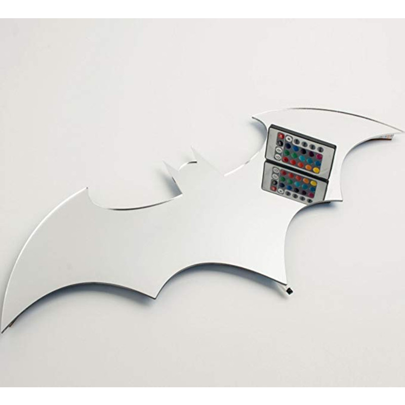 HZFCEW USB Batman LED Wall Light Colorful Mirror Light With Remote Control Projection Night Lights