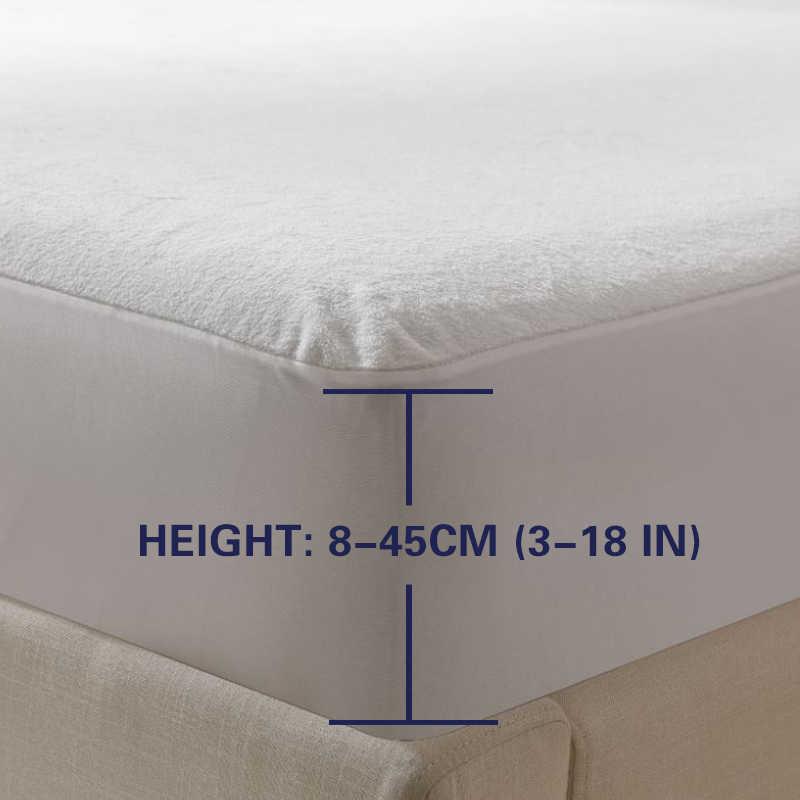 Terry Tahan Air Ukuran 160X200 Cm Bed Tahan Air Cover Kasur Penutup Pelindung untuk Tidur Membasahi dan Tempat Tidur Bug Suit bahasa Rusia Ukuran