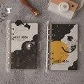 Креативный симпатичный блокнот в японском стиле с кошачьей катушкой  планер  ежедневник  ежемесячная планка