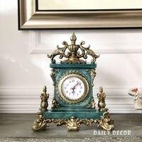 Vintage European American table clocks Decoration Bracket / desktop clock antique grandfather clock reloj de mesa free shipping