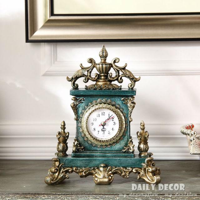 Vintage European American table clocks Decoration Bracket / desktop clock  antique grandfather clock reloj de mesa - Vintage European American Table Clocks Decoration Bracket / Desktop