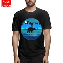 Polar Bear T shirt Casual New Arrival Tees MenMan Alaska By Night T Shirt New T Shirt O-neck Big Size Tee стоимость