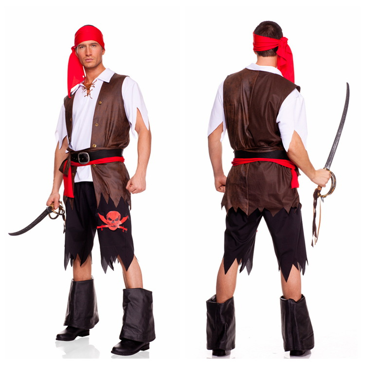 Free Shipping Clearance Menu0027s Pirate Fancy Dress Costume- Caribbean Pirate halloween costumes(China)  sc 1 st  AliExpress.com & Online Get Cheap Pirate Costume Clearance -Aliexpress.com | Alibaba ...