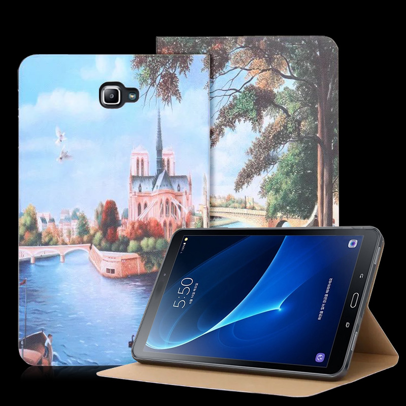 NKOBEE Tablet Case For Samsung Galaxy Tab A 10.1 2016 T585 T580 SM-T580 T580N PU Flip Leather Book Stand Smart Cover accessories