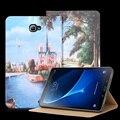 Nkobee tablet case para samsung galaxy tab 10.1 2016 t585 T580 SM-T580 T580N PU Del Tirón Del Soporte Elegante de La Cubierta de Libro de Cuero accesorios