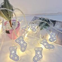 Noël roon décoration lampe à LED chaîne décorative lampe chaîne lumière 2 m 10 lampe batterie boîte