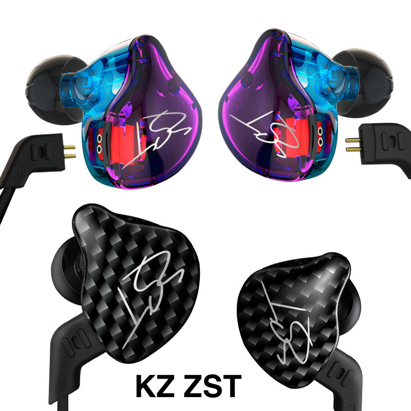 KZ ZST BA+DD In Ear Earphone Hybrid Headset HIFI Bass Noise Cancelling Earbuds With Mic For Cell phone Computer Player Etc vjjb n1 in ear earphone double dynamic diy hifi bass auriculares with mic cable audio cable for phone tablet computer