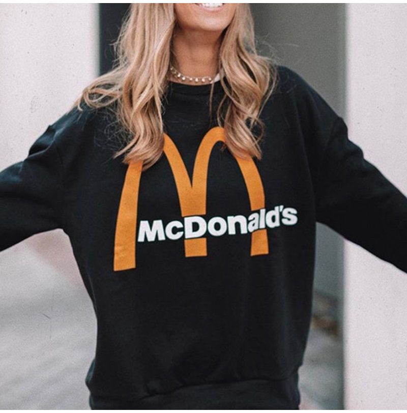 Artsnie Spring 19 Black Casual Knitted Sweatshirt Women O Neck Long Sleeve Loose Pullovers Letter Streetwear Sweatshirts Mujer 4