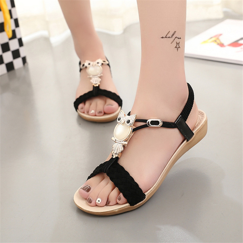 Women Sandals women shoes Woman Summer Ankle-Strap Sandals Flip Flops Sandale Femme Crystal fashion gladiator sandals flip flops fisherman shoes woman platform wedges summer women shoes casual sandals ankle strap 910741