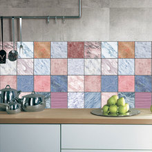 CZ054 Arbitrary Combination Marble Grain Tile Stickers Room Decoration Wallpaper Sticker Wall Decals PVC