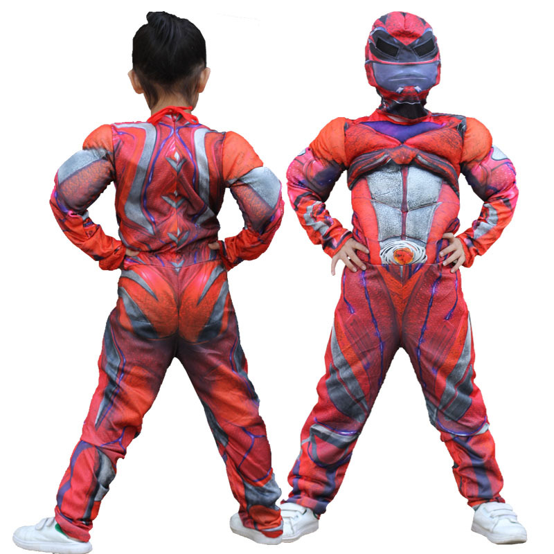 Superhero Kids Muscle Power Rangers Costume Star war Child Cosplay muscle Power costumes Halloween Costumes For Kids Boys S-XL