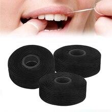 50 м бамбуковый уголь зубная нить встроенная катушка проволока зубочистка и зубная нить Замена ядро мятный вкус