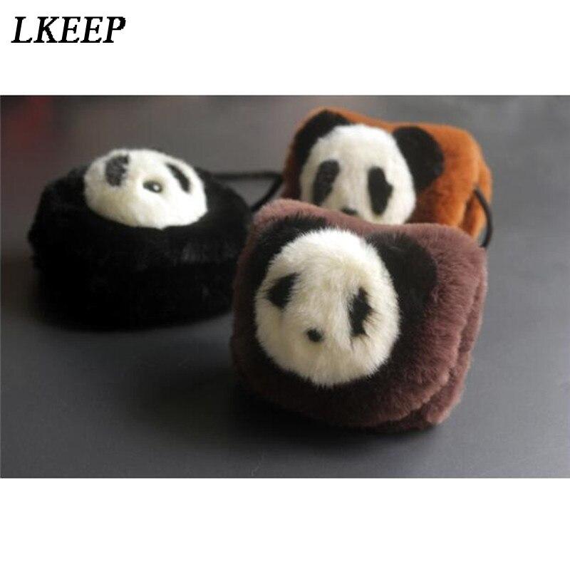 Coin Purse Bag Messenger-Bags Mini Portable Fashion Cartoon Soft Panda Animal Plush Cute