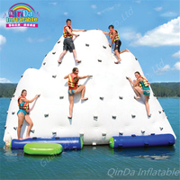 5m*4m*4m Float Unicorn Water Park Inflatable Water Island,Inflatable Iceberg For Funny Games Inflatable Ice Tower