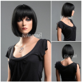 New Free shipping! New Fashion BoB Head with Neat Black Short Straight Lady's wigs/ Fashion Sexy Party Cosplay wigs