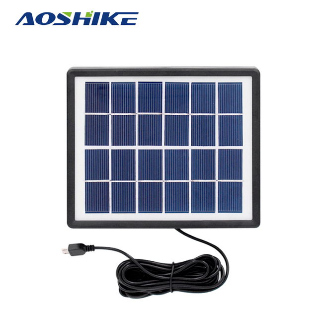 Aliexpress com : Buy Aoshike Solar Panels 6V 2W Polycrystalline battery  panel Panels DIY Solar Panel System for 9V Battery Charger+DC 5521 Cable 3M