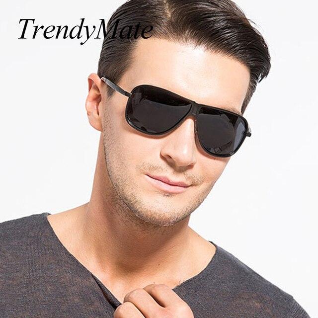 3f3e354aecbf9 Marca Classic negro polarizado gafas de sol hombres conducir gafas de sol  para hombre sombras gafas