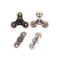 Supology Toothed Gearing Anti Stress Fidget Spinner Metal 2017 EDC Toys Tri Hand Spinner For Autism