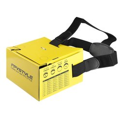 YKS DIY Durable Foldable Easy to Carry Yellow FPV Card Board FPV Goggle Card Glasses Paper for 5 inch LCD Monitor KIT