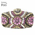 Hot Pink Plastic Beaded Chains Patchwork Women Brand Evening Prom Dinner Handbags Clutch Wedding Bridal Beading Shoulder Bag