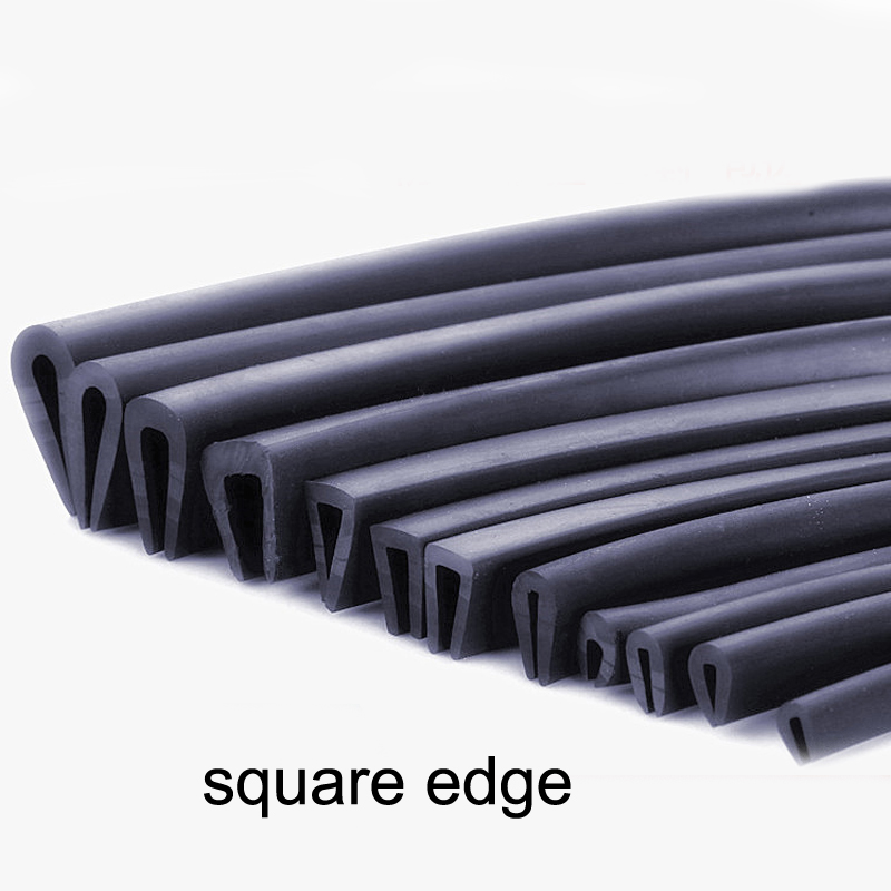 1 Meter U Shaped Rubber Sealing Strip Edge Trim Automobile Door Edge Guard For Glass Metal Wood Panel Board Sheet Cabinet