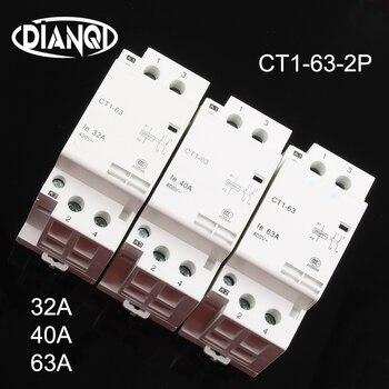60HZ rail Din m/énage ac contacteur modulaire 4NO module de contact domestique auxiliaire de partida-2NO2NC-32A 230V 50 Disjoncteurs Disjoncteur CT1-63 32A 40A 63A 4P 220V