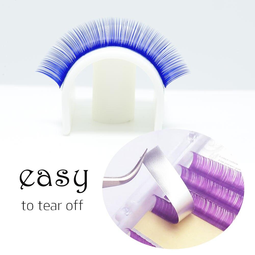Image 4 - LAGEE Eyelash Extension Purple Blue brown Color Individual Eyelashes Premium Mink Soft eyelashes for building nagaraku line-in False Eyelashes from Beauty & Health