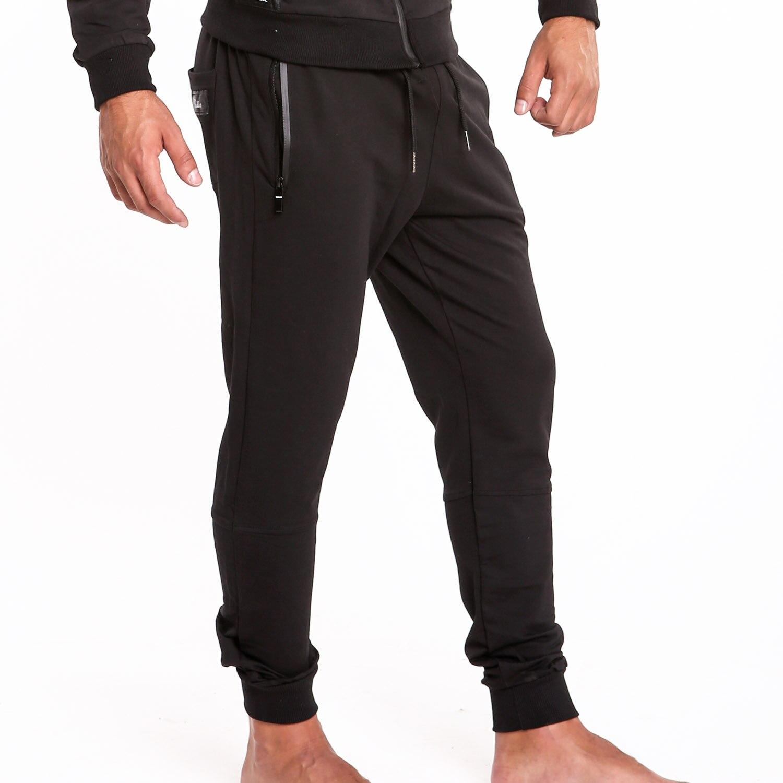 c1a74e08c6526 Taddlee Marque Hommes Joggers Pantalon Casual Fitness Pantalon De Base  Active Slim Fit Bas Skinny Homme Entraînement pantalons de Survêtement Noir  Poche