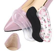 Nuevo 1 par de Gel de silicona inserciones de talón para mujer protector de pies cuidado almohadilla para insertar en calzado cojín de la plantilla 4 estilos