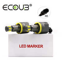 2x 120W H8 Angel Eye E92 LED Marker for BMW E90 E91 E60 E61 E70 X5 E71 X6 E82 E88 E89 Side Headlight Bulb Canbus White Fog Light