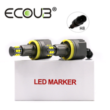 2x120W H8 Angel Eye E92 Светодиодный Маркер для BMW E90 E91 E60 E61 E70 X5 E71 X6 E82 E88 E89 бокосветильник ПА Canbus Белый светильник туманный свет