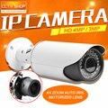 4MP Câmera IP POE ONVIF À Prova D' Água Bala CCTV Câmera Ao Ar Livre, PC & Mobile Ver P2P Nuvem Auto Iris 2.8-12mm Lente VariFocal