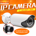4MP POE IP Camera ONVIF Waterproof Outdoor Bullet CCTV Camera , PC&Mobile View P2P Cloud Auto Iris 2.8-12mm VariFocal Lens