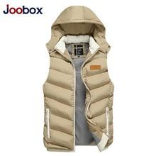JOOBOX Brand 2017 Winter Vest Men Fashion Outerwear Casual High Quality Cotton Waistcoat Warm autumn Sleeveless Jacket Slim Coat