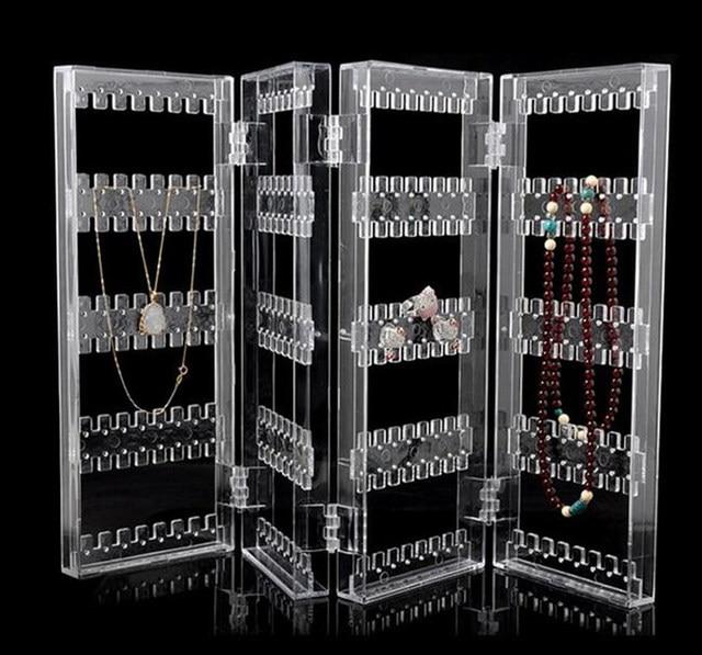 4 Fold Acrylic Foldable Earring Screens Display Jewellery Jewelry