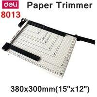 [ReadStar] Deli 8013 ручной триммер для бумаги размер 380x300 мм (15 x 12) Большой триммер для бумаги со скальзером резки металлической пластины бумажный р