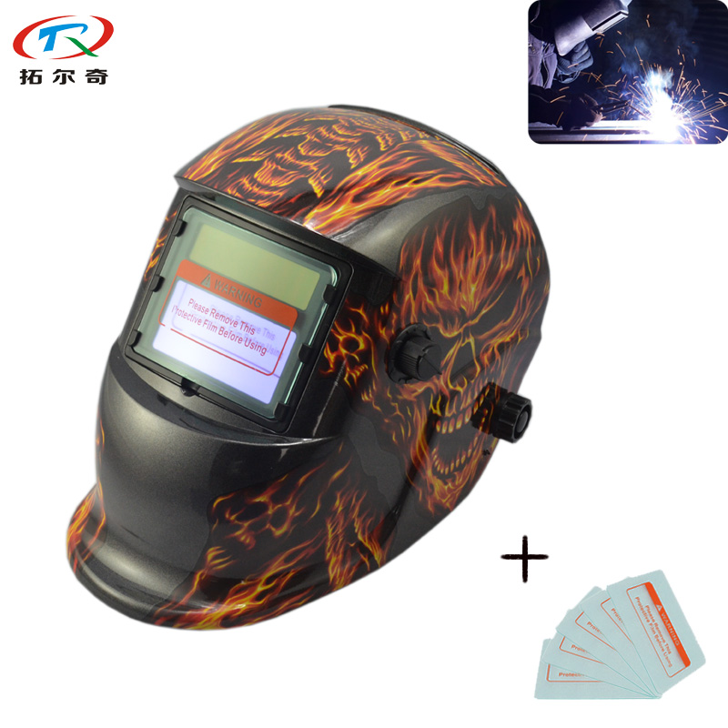 US $25 96 |Flame Welding Helmet Automatic Darkening Filter Lens Protection  Mascara Power Tools Parts Solar Energy TRQ HD32 2200DE-in Welding Helmets
