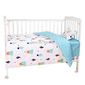 Image 4 - 3 шт., детский хлопковый комплект постельного белья с наволочкой и пододеяльником