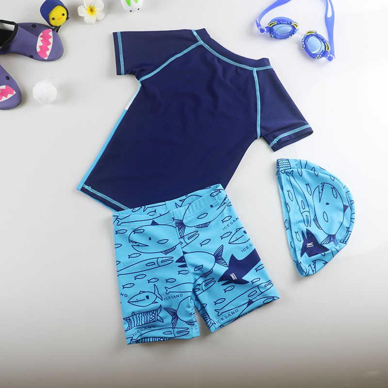 Đồ Bơi Cho Bé Bikini Trẻ Em Bé Trai Cho Quần Áo Bơi Chống Nắng Trẻ Em Hàn Quốc Bộ Ba Lớn Sấy Khô Quần Bơi Động Vật Polyester