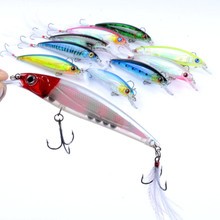 1Pcs 11cm/13.4g Suspend Isca Artificial Minnow Wobbler Fishing Baits With  4# Feather Hook For Crankbait Pesca Lure Jig Tackle 4pcs lot fishing lures wobbler tackle sequin spoon wobble spinner baits crankbait bass with feather hooks pesca isca artificial