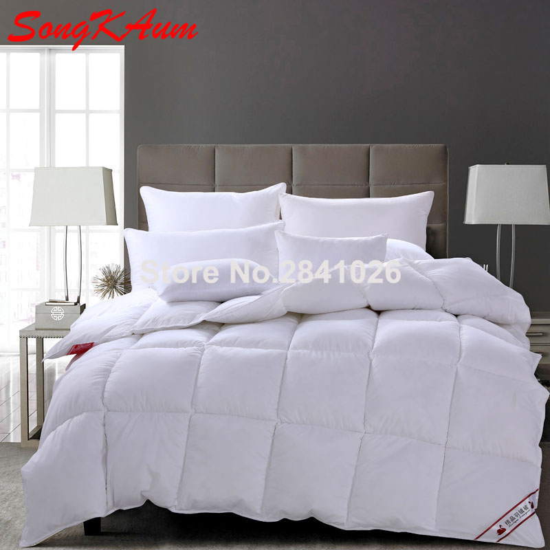 2017 100 white goose duck down quilt winter super warm duvet feather insert comforter king. Black Bedroom Furniture Sets. Home Design Ideas