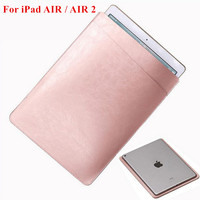 For IPad AIR AIR 2 Luxury Universal PU Leather Sleeve Bag Case Cover Pouch For IPad