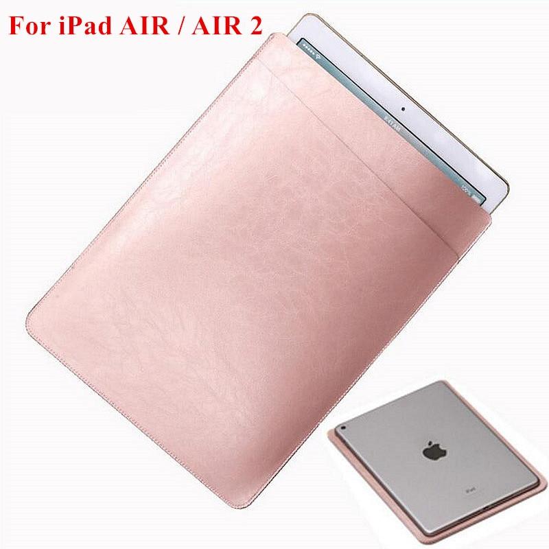 """IPad üçün AIR / AIR 2 Lüks Universal PU Dəri Qollu Çanta Çantası Qab örtüyü üçün çanta iPad 5 6 9.7 """"Qoruyucu qutu"""