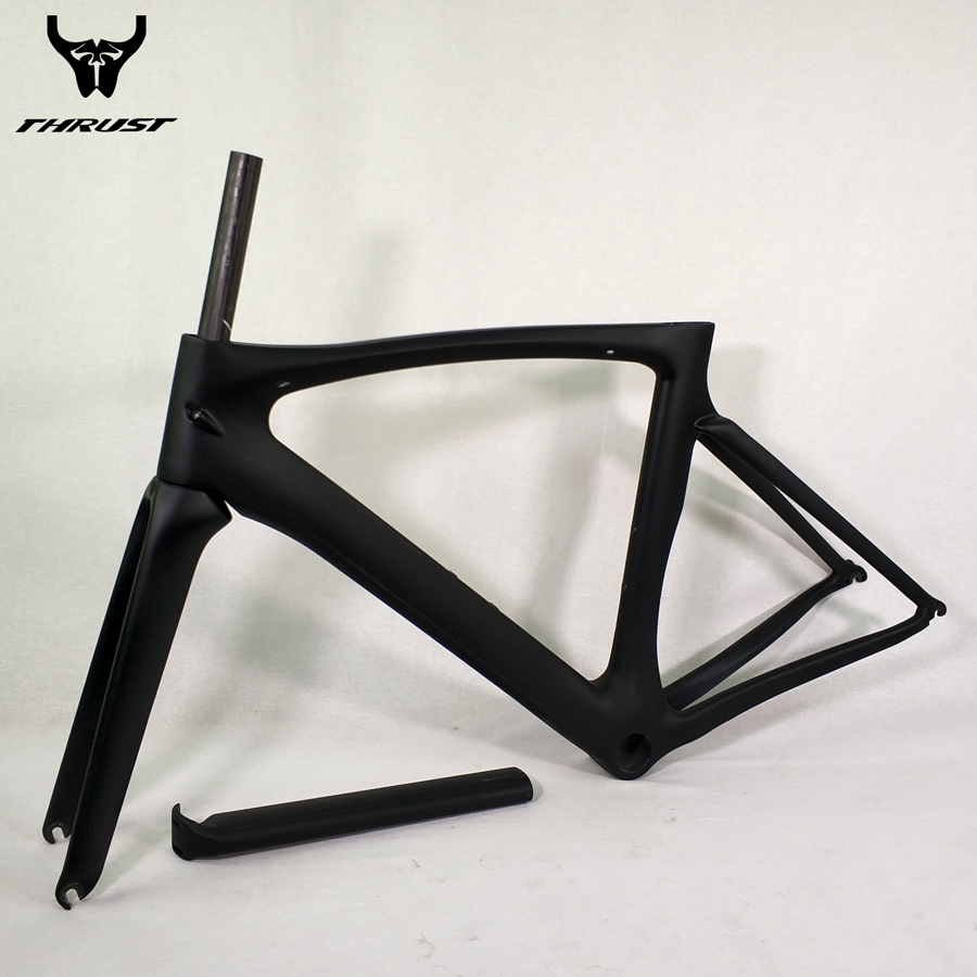 THRUST Carbon Frame Road Bike Frame with Clamp Headset Fork Seat Post Rear Hanger Carbon Bicycle Frame Road aero 700c wholesale 2017 newest thrust carbon road frame carbon road bike frame