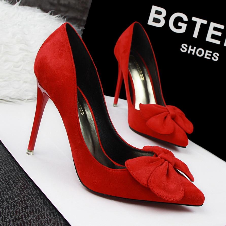 European Style Fashion Profession OL High heeled font b Women b font Shoes Thin Heels Big