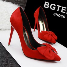 European Style Fashion Profession OL High-heeled Women Shoes Thin Heels Big bow Women Pumps Shoes