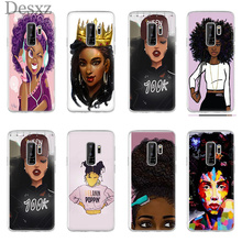 Phone Case Black Girl Cartoon For Galaxy