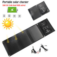 Solar Power Bank Durable Outdoor Tool Emergency Supply 18W Monocrystalline Silicon 5V Phone Mate Solar Charger Solar Panel